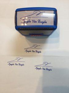 Nhận khắc dấu chữ ký online giá rẻ, giao hàng tận nơi